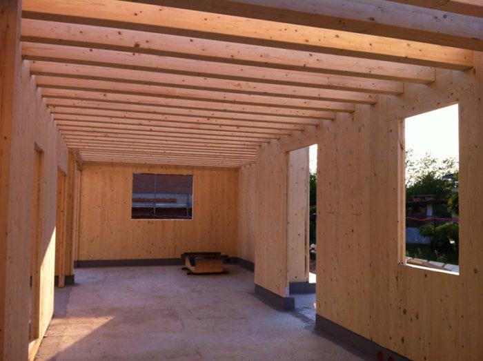 pareti in legno travetti e solaio